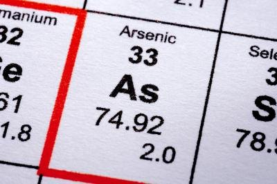 Arsenic is very dangerous in water.
