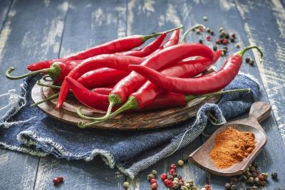 Spicy chili peppers