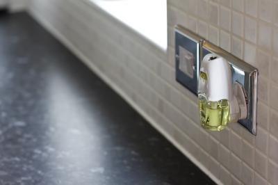 Air freshener attached to the wall