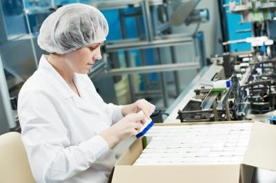 Woman on factory line