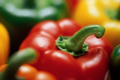 Bell peppers are rich with vitamins B and C.