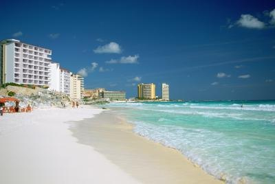 Cancun Beach, Mexico.