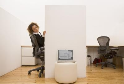 The cubicle can range in sizes from large to small.