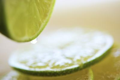 Lime juice is used to tenderize the meat.