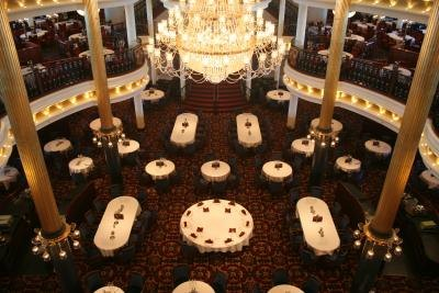 Formal dining room on cruise