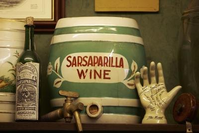 Sarsaparilla container