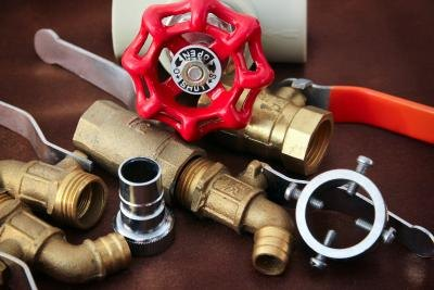 Both copper and plastic piping are popular choices for plumbing.