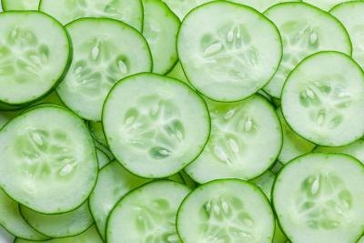 Consume healthy foods, like cucumbers.