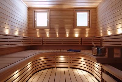 Saunas can relieve stress.