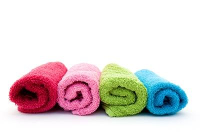 Colorful washcloths.