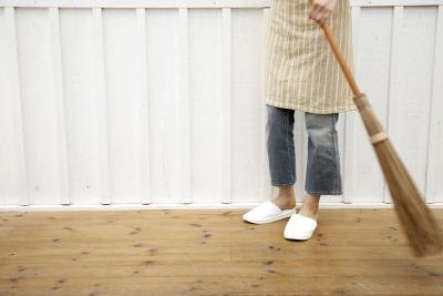 Sweep away all loose dirt and debris.