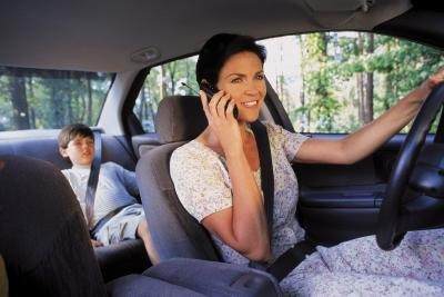 Cell phones can cause many accidents.