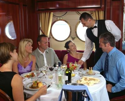 Try the specialty restaurants on board