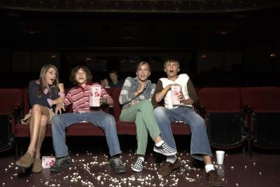 Teenagers at movie