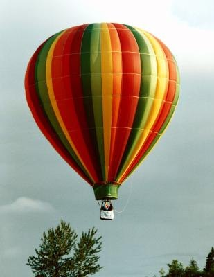 A ride in a hot-air balloon is a birthday adventure.