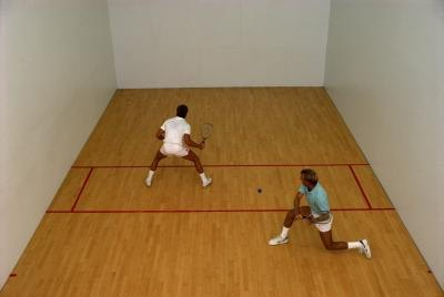 Men playing racquetball