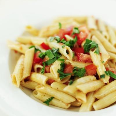 A dish using penne pasta