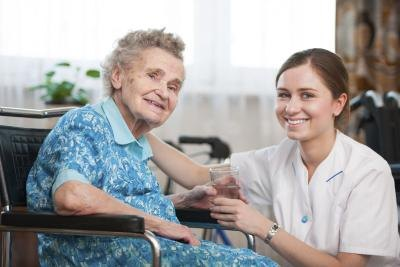 Medication aides administer medicine to patients in care facilities.