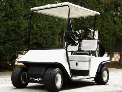 Parked Golf Cart