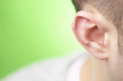 Close-up of man's ear