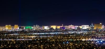 The Strip is best viewed at night, from high in the air.