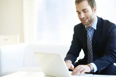 Man running online business