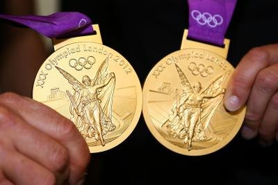 Gold medals from the 2012 London Olympic Games