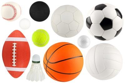 Assorted balls and equipment.