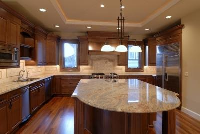 Both marble and granite counter tops make great kitchens
