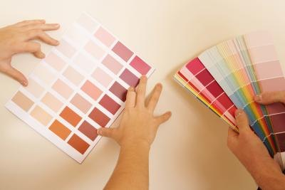 Painting sample squares will help choose the color that looks best in your space