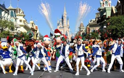 Christmas parade at Disneyworld