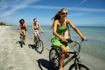 Have fun and reduce stress with exercise like bike riding.