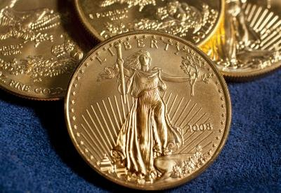 Gold American Eagles.