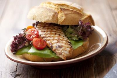 A grilled chicken sandwich.