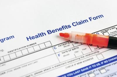 Health insurance claim form.