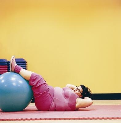 Stability ball exercises firm your belly.