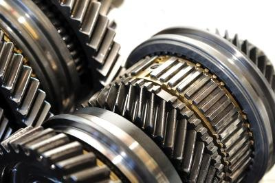 Close up of gears.