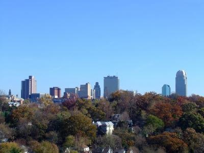 Winston-Salem North Carolina is in the region of the state known as the Piedmont