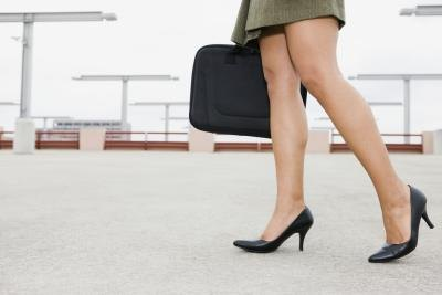 Heels that are 2-3 inches are well suited for the work place.