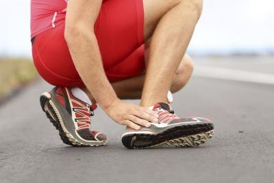 Runner with foot pain