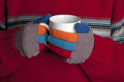 Protect hands and feet from the cold.