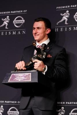 The Heisman trophy is awarded to the outstanding player in college football each year.