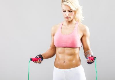 You can flatten your tummy with jumping rope.