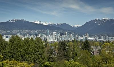 Downtown skyline view of Vancouver, B.C.