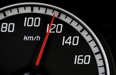 Take a reading from your speedometer.