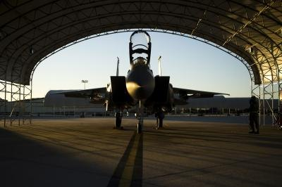 F-15E strike fighter at Seymour Johnson AFB