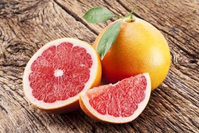 Grapefruit contains fat burning enzymes.