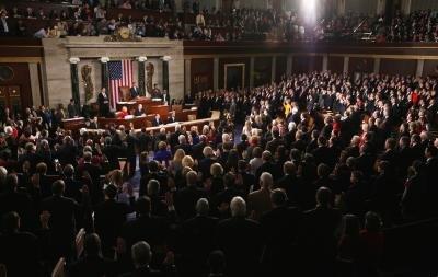 The U.S. Congress convenes on Capital Hill.
