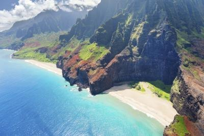 Napali Coast on Kauai.