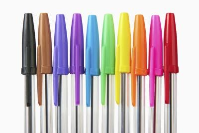 All ballpoint pens are made with non toxic ink.